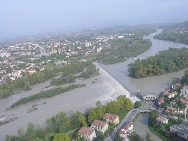 Isonzo in piena a Sagrado